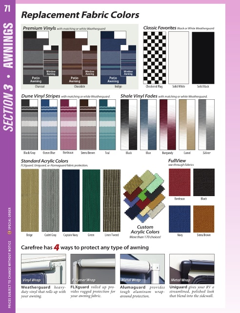 Carefree DG0710042 Awning Fabric
